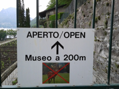 No deers allowed in the museums