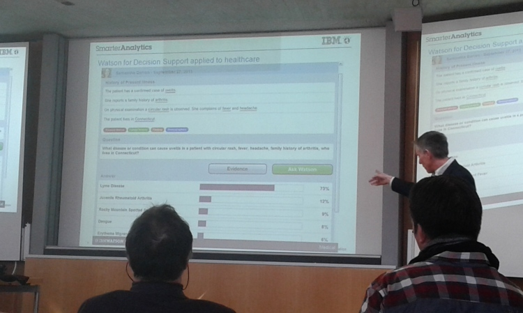 IBM Watson presentation at the University of St Gallen
